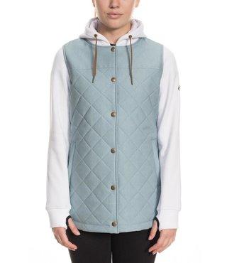 686 Women's Autumn Insulated Jacket - Lt Blue Denim Clrblk
