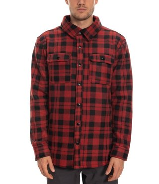 686 Men's Sierra Fleece Flannel - Rusty Red Plaid