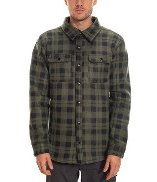 686 Men's Sierra Fleece Flannel - Dark Green Plaid