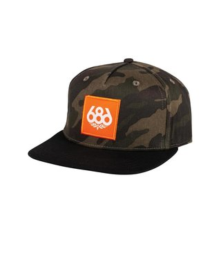 686 Knockout Snapback Hat - Dark Camo