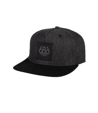 686 Knockout Snapback Hat - Black Denim