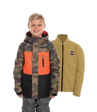 686 Kid's 8-16y Smarty 3-In-1 Jacket - Dark Camo Clrblk