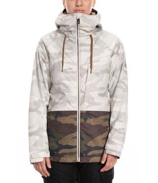 686 Women's Athena Insulated Jacket - White Camo Clrblk