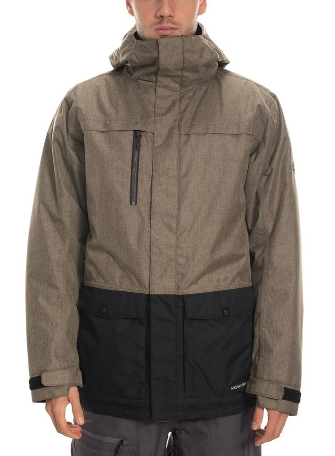 686 Men's Anthem Insulated Jacket - Khaki Mlng Clrblk