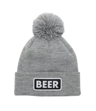 The Vice Pom Beanie - Heather Grey (Beer)