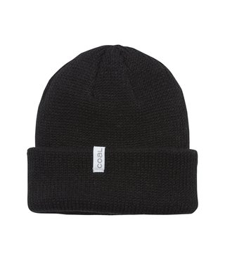 The Frena Thick Knit Cuff Beanie - Black
