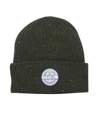 The Oaks Speckle Ribbed Knit Cuff Beanie - Olive