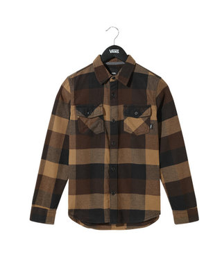 Vans Kid's Box Flannel Button Up Shirt - Black/Dirt