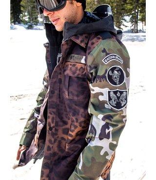 Volcom Men's Creedle2Stone Winter Jacket - Cheetah