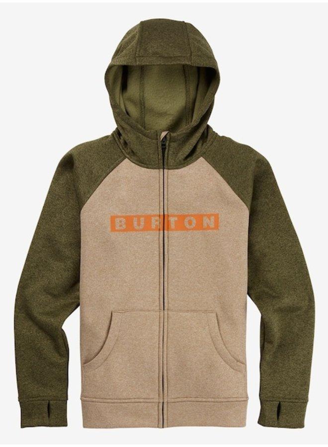 Boys' Burton Oak Full-Zip Hoodie - Safari Hthr