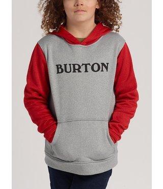 Boys' Burton Oak Pullover Hoodie - Gry Hthr/Flame Scarlet