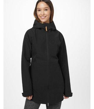 tentree Women's Destination Rain Jacket - Mtrt Black