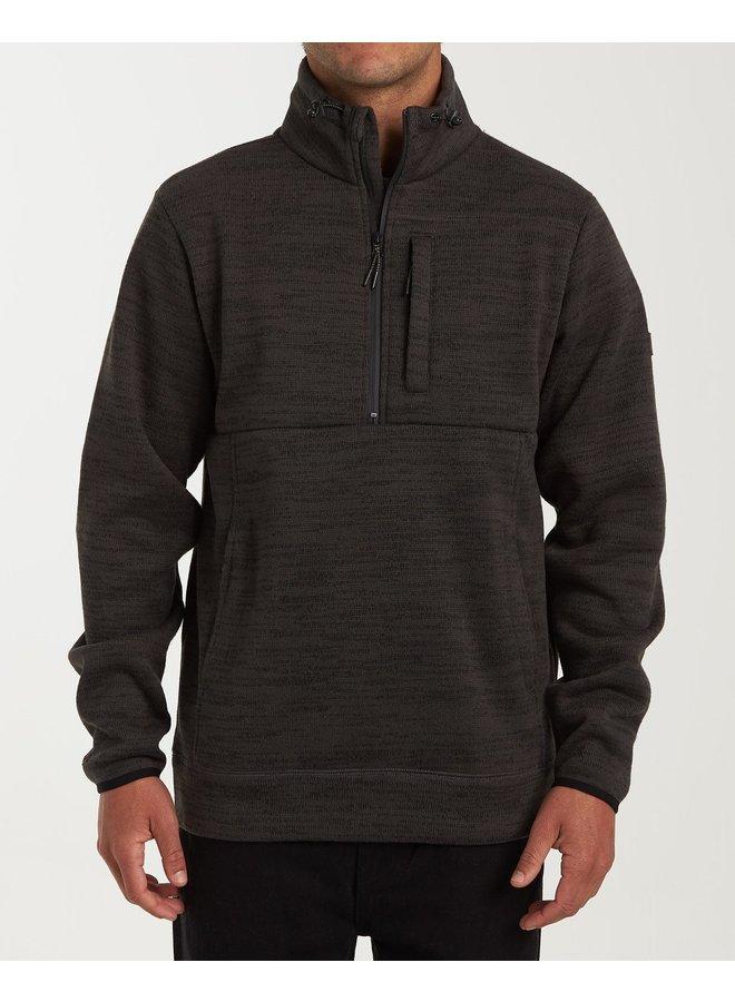 Billabong Boundary Mock Half Zip Pullover Fleece - Phantom