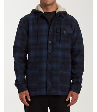 Billabong Furnace Bonded Hooded Flannel - Navy