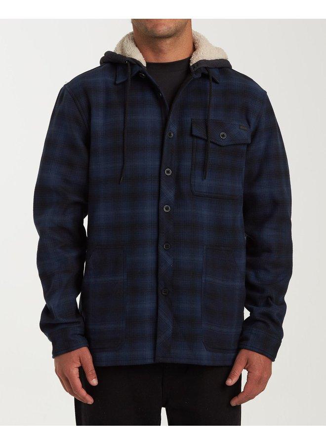 Billabong Furnace Bonded Hooded Flannel - Navy