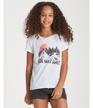 Billabong Girls' Blue Skies Ahead T-Shirt - Blue Moon