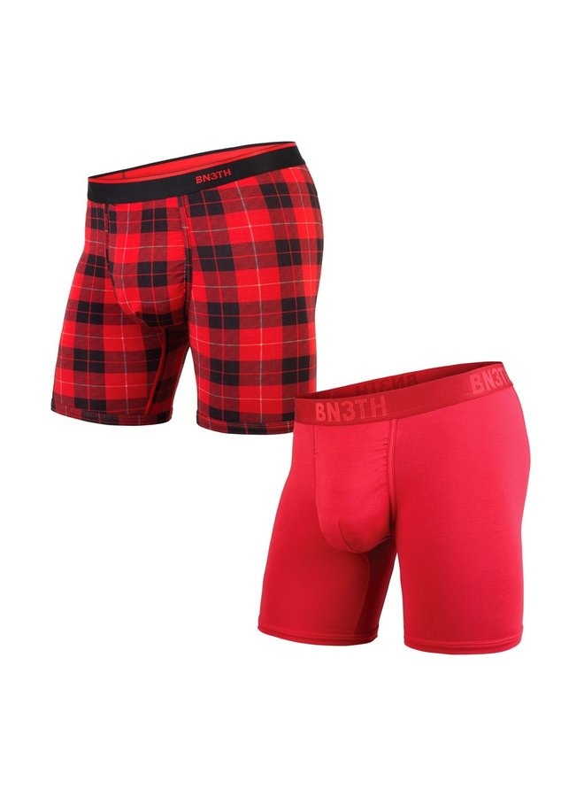 BN3TH Classic Boxer Brief 2-Pack - Crimson/Frsd Pld Red