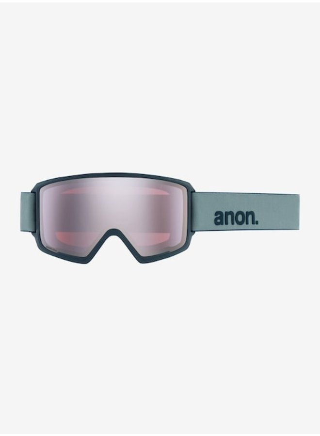 Anon M3 Snow Goggle Gray w/ Sonar Silver Lens + Spare + MFI Facemask