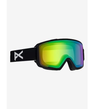 Anon M3 Snow Goggle Blk w/ Sonar Green Lens + Spare + MFI Facemask