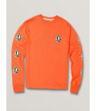 Big Boys Family Stones Long Sleeve Tee - Orange