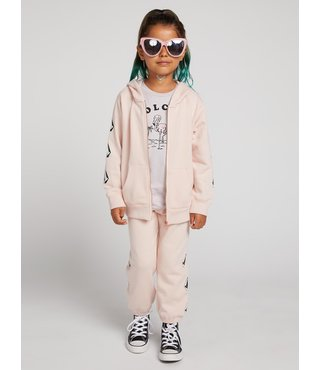 Little Girls Zippety Zip Sweatshirt - Mlw Rose