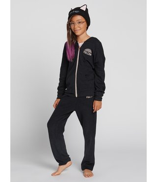 Big Girls Lived In Lounge Zip Fleece - Blk