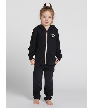 Little Girls Lived In Lounge Zip Fleece - Blk