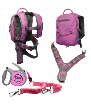 MDXONE OX Backpack and Leash - Pink