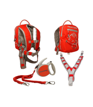 MDXONE OX Backpack and Leash - Red