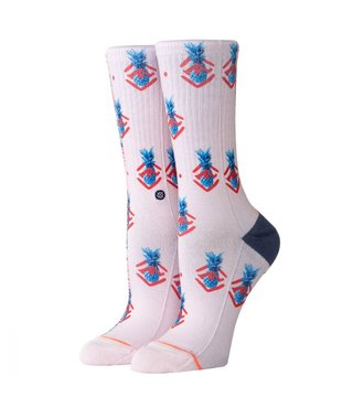 Stance Polka Pineapple Crew Socks - Lilac Ice