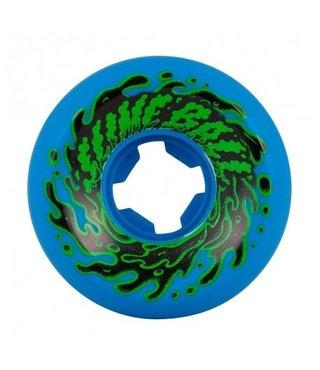 54mm Double Take Vomit Mini Neon Blue Black 97a Slime Balls Skateboard Wheels