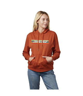 Santa Cruz Stripe Strip Hoodie - Orange Hthr