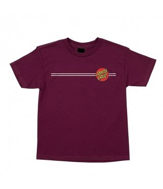 Classic Dot Short Sleeve Youth T-Shirt - Burgundy