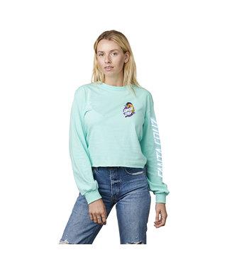 Santa Cruz Unicorn Dot Crop L/S T-Shirt - Celadon