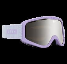 Spy Cadet Herringbone Lavendar w/ HD Bronze Silver Spectra Lens Snow Goggle