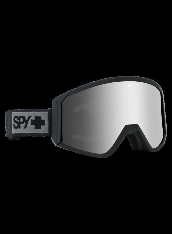 Spy Raider Matte Black w/ Happy Bronze Silver Spectra Lens Snow Goggle