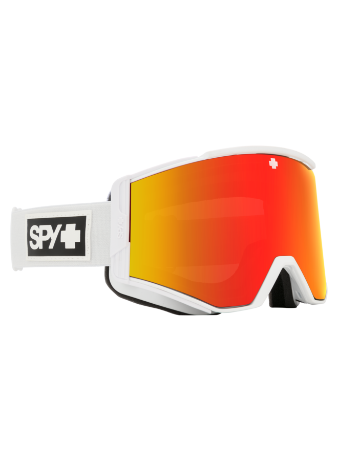 Spy Ace Matte White w/ HD+ Bronze Red Spectra Lens Snow Goggle