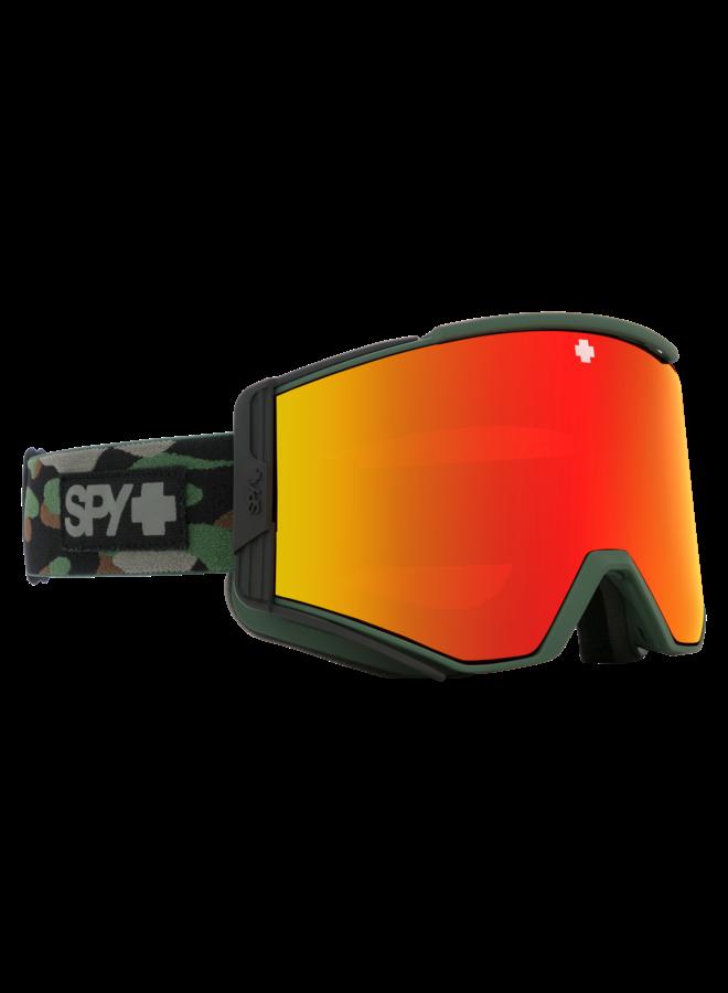 Spy Ace Camo w/ HD+ Bronze Red Spectra Lens Snow Goggle