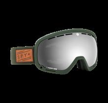 Spy Marshall Herringbone Olive w/ Happy Gray Green Silver Spectra Lens Snow Goggle