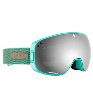 Spy Bravo Herringbone Mint w/ Happy Grey Green Spectra Lens Snow Goggle