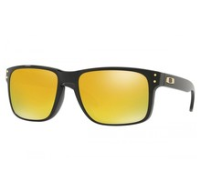 Holbrook™ Polished Black Sunglasses w/ 24k Iridium Lens