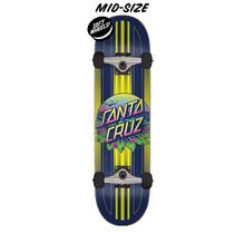 7.5in x 30.6in Sunset Dot Santa Cruz Skateboard Complete