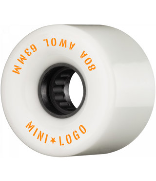 63mm Mini Logo AWOL A-Cut 80A Skateboard Wheels White