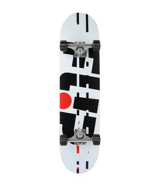 Flip Team Odyssey Glitch 7.75 x 31.63 White Skateboard Complete