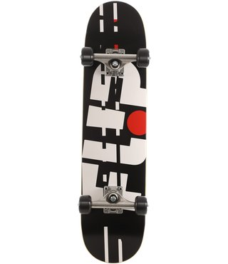 Flip Team Odyssey Glitch 7.25 x 29.9 Black Skateboard Complete