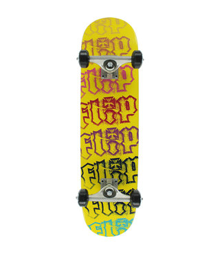 Flip Team HKD Spectrum 7.25 x 29.9 Yellow Skateboard Complete