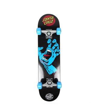 Santa Cruz 7.5 x 31 Screaming Hand Blue/Blk SMU Skateboard Complete