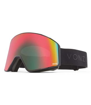 Von Zipper Capsule Snow Goggles Black Satin w/ Wildlife Chrome Lens