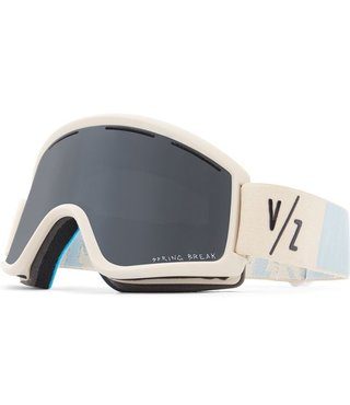 Von Zipper Cleaver Snow Goggles Bone Satin w/ Wildlife Blackout Lens
