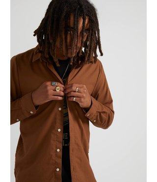 Oxford Stretch Long Sleeve Shirt - Bison